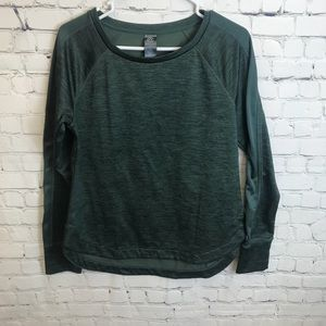 Champion Heather Green Polyester Sweater Size M